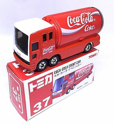 JAPAN TOMY TOMICA No.37 COCA COLA EVENT CAR 1/68 DIECAST DELIVERY TRUCK WHITE