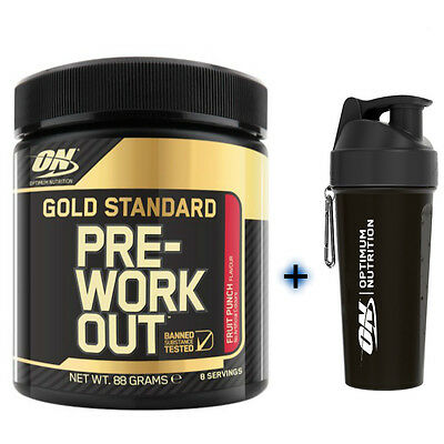 Optimum Nutrition Gold Standard Pre-workout 8 Servings + Free ON Mini Shaker