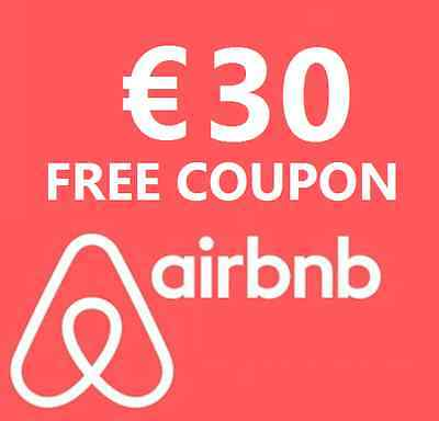 €30 discount on your first AirBnB booking