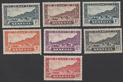 Senegal stamps.  1935 -1940 Buildings - Faidherbe Bridge. MLH
