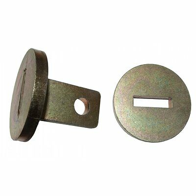 Trailer 40mm - 50mm Towing Eye Coupling Lock Zinc Plated Hitch Plant Security