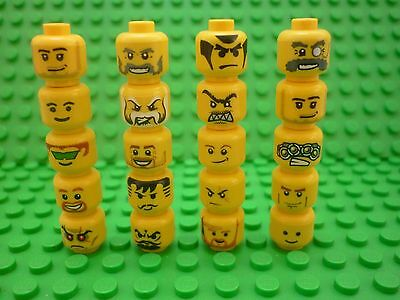 Lego Selection/Collection of Minifigure Heads x 20 (Lot 15)