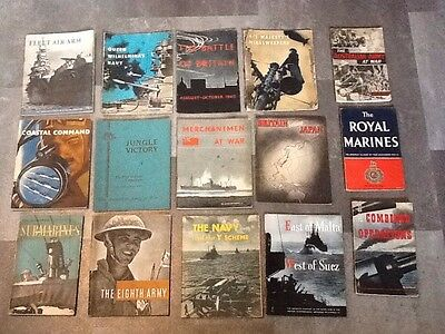 Collection of 15 x Rare 1940's HMSO Army / Navy / War Booklets