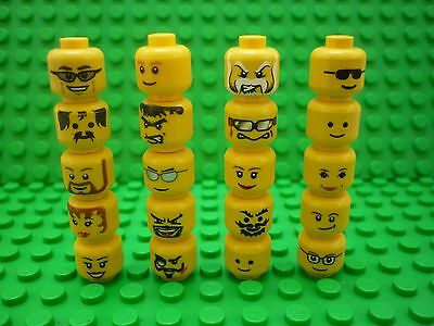 Lego Selection/Collection of Minifigure Heads x 20 (Lot 38)