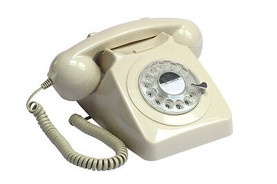 GPO Retro Push Button Dial Telephone - Available in 3 Colours - Ivory