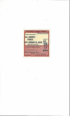 Arsenal v Liverpool Charity Shield Match Ticket Stub 1979 - Seated