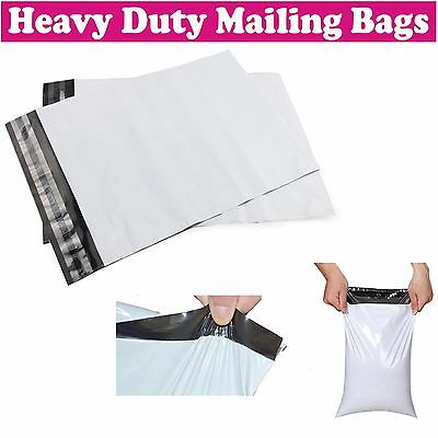 Grey White Plastic Strong Packaging Postal Polythene Mailing Bag Mail Bags UK