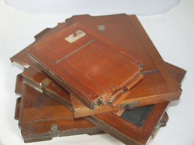 Antique Double Dark Slides x4 for Early Plate Cameras SPARES/REPAIRS - NO RETURN