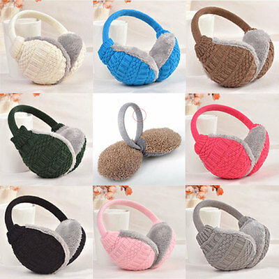 Winter Warm Knitted Earmuffs Ear Warmers Women Girls Ear Muffs Earlap Warmer GYT