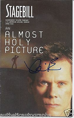 """Kevin Bacon in """"An Almost Holy Picture"""" Autographed Playbill"""
