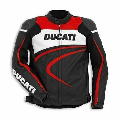 Ducati Corse C2 Motorcycle Leather Jacket
