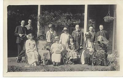 Isle Of With Sandown Fete - Group In The Garden , Vicars All Named Old Photo Pc