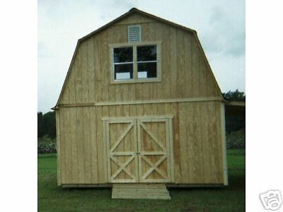 16x24 TWO STORY BARN STYLE SHED PLANS