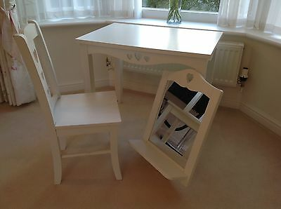 Childs Girls Next Dressing Table, Chair & Mirror