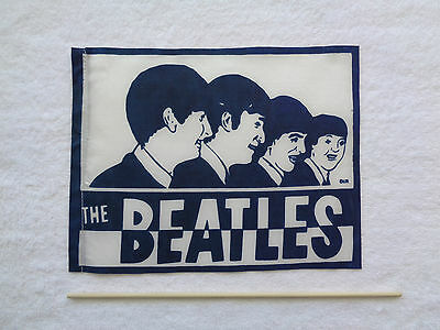 Vintage New Old Stock 1960s Beatles Concert FlagBanner