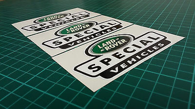 3 X Land Rover Special Vehicle Vinyl Stickers Defender Discovery 90 110 TD5