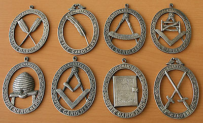 8x Very Rare Order Of Free Gardeners Collar Jewels Royal Charter Lodge No.15