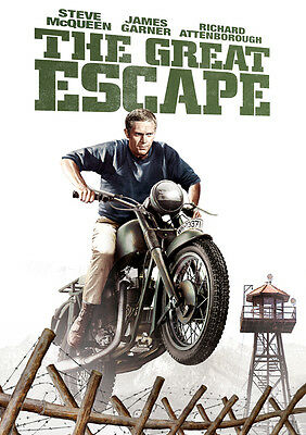 The Great Escape Poster Print Borderless Stunning Vibrant Sizes A1 A2 A3 A4