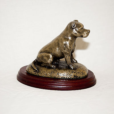 STAFFY  Bronze Figurine. Hand made in England. Ideal gift.