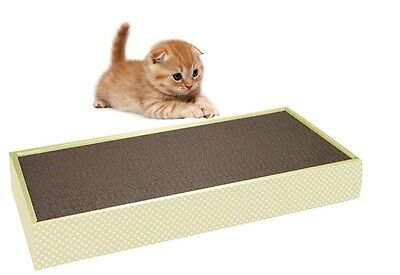 Little Rascals Cardboard Cat Kitten Scratching Pad Board With Catnip 37872