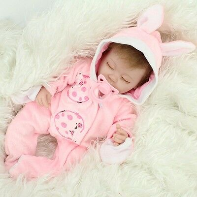 Handmade Lifelike Baby Soft Vinyl Girl Doll Reborn Newborn Dolls With Clothes