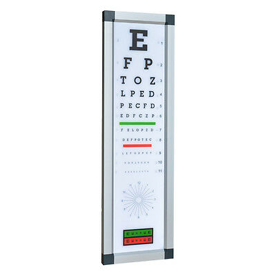 optometry equipment LED visual acurity chart snellen chart near vision chart
