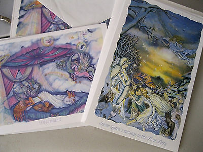 """Kirks Folly """"snow Queen' & Dreamland""""  8 New Note Cards-Beautiful 2 Designs-Look"""