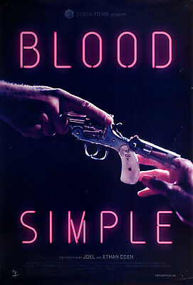Blood Simple R2016 U.S. One Sheet Poster