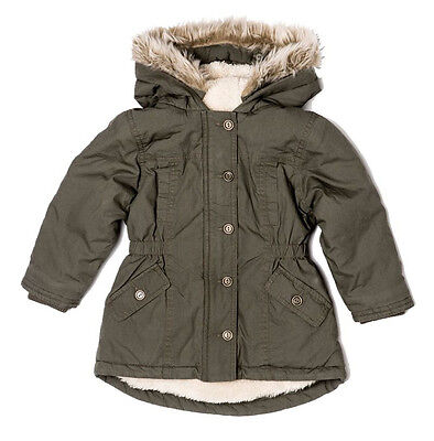 Baby Toddler Girls Parka Coat by British Designer Minoti (6 Months - 3 Yrs)