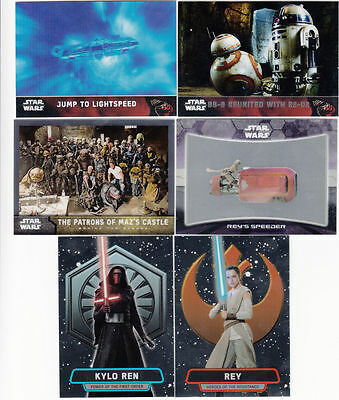 2016 Topps Star Wars The Force Awakens CHROME Complete Master Set (150 cards)