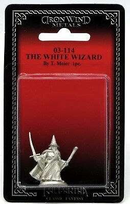 Ral Partha 03-114 The White Wizard (Player Characters) Sorcerer Warrior-Mage NIB