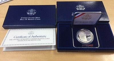 1993 S Bill of Rights Madison Proof 90% Silver Dollar US Commemorative Coin V20