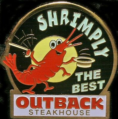 J0878a Outback Steakhouse hat lapel pins Shrimply the Best