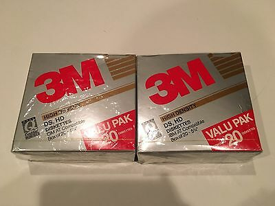"3M High Density DS HD Diskettes IBM AT Compatible 5 1/4"" Lot Of 40"