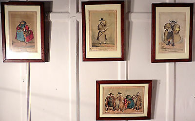 Collection of 4, 19th Century Political Coloured Prints