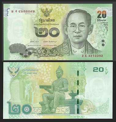 Thailand 20 BAHT ND 2013 Sign.84 P New UNC