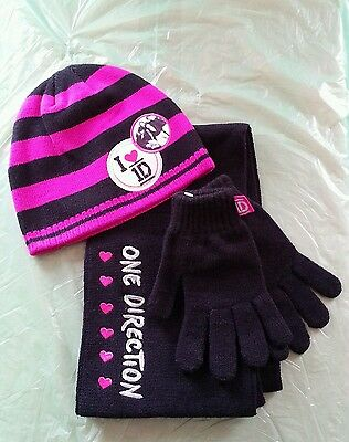 One Direction 1D Hat Scarf Gloves Girls Set Christmas Gift