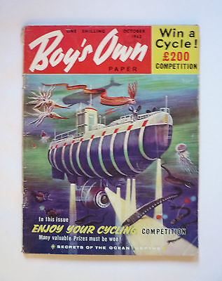 Vintage Boy's Own October 1962 Magazine Paper - Good Condition