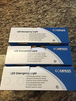 3 LED COMPASS CU2 Emergency Lights,120/277,1W - New, In Boxes  FREE SHIPPING