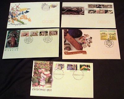 5 x AUSTRALIA ALL DIFFERENT ILLUSTRATED FIRST DAY COVERS, 1992.