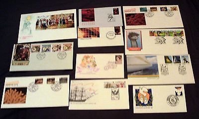11 Australia All Different Illustrated First Day Covers Inc. Mini. Sheet, 1986.