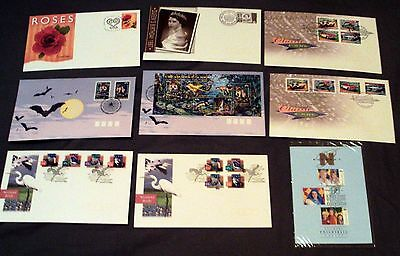8 x AUSTRALIA ALL DIFFERENT ILLUSTRATED FIRST DAY COVERS + PO XMAS CARD, 1997.