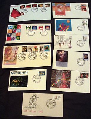 10 x AUSTRALIA ALL DIFFERENT DECIMAL ILLUSTRATED FIRST DAY COVERS, 1985.