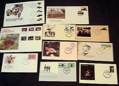 10 x AUSTRALIA ALL DIFFERENT DECIMAL ILLUSTRATED FIRST DAY COVERS, 1984.