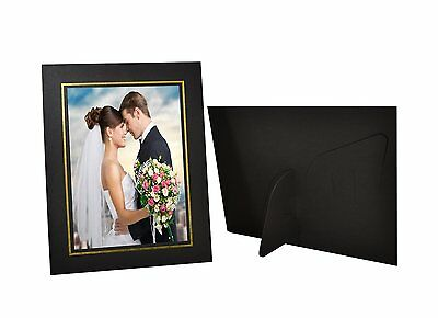 Pack of 25, Cardboard Photo Easel Frame for 5x7 Photo, Black