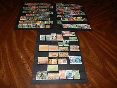 China stamps - BIG lot of 130 mint hinged and used early stamps - super !!