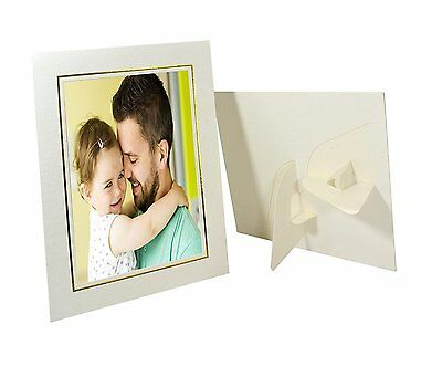 Pack of 25, Cardboard Photo Easel Frame for 4x6 Photo, Ivory