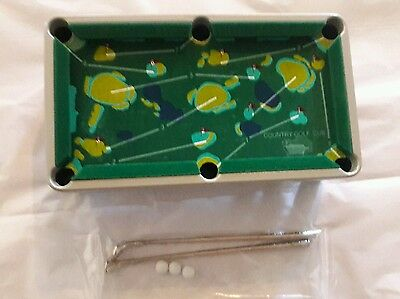 Mini Golf Game Combined with Pool Skills,1 table,2.clubs,3 balls New in box