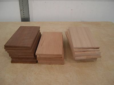 """24 pieces of sanded 1/4"""" thick x 6"""" long 3"""" wide Walnut Cherry & Maple"""