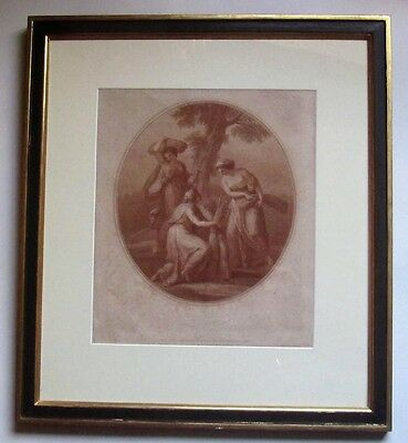 Large framed antique 1782 print, Bartolozzi after Angelica Kaufmann, Ceres